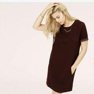 Lou & Grey Red & Black Striped Dress EUC